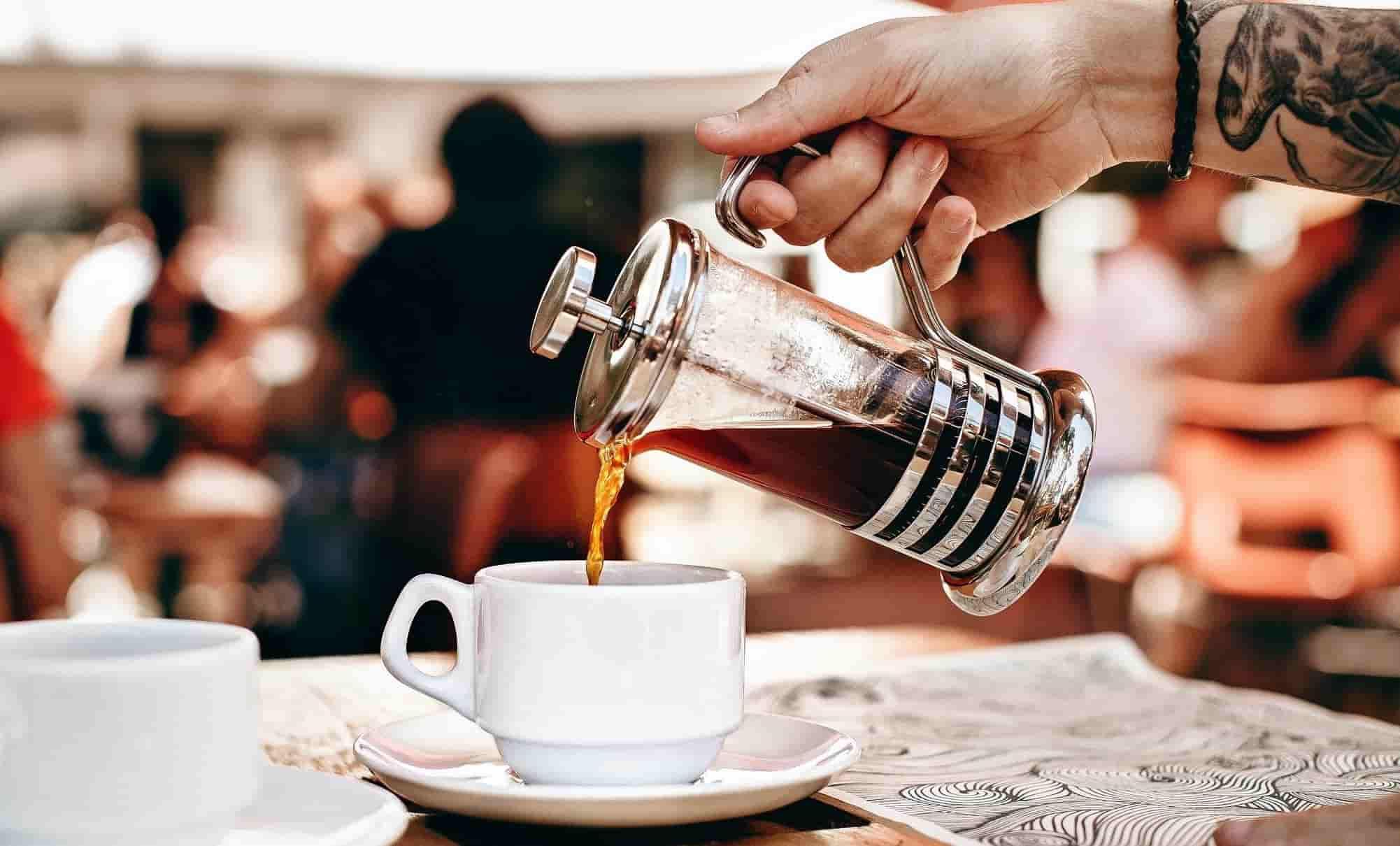 قهوه دمی با فرنچ پرس
